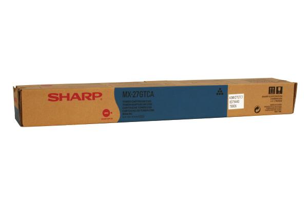 SHARP Toner cyan MX-27GTCA MX-2300/2700N 15´000 Seiten