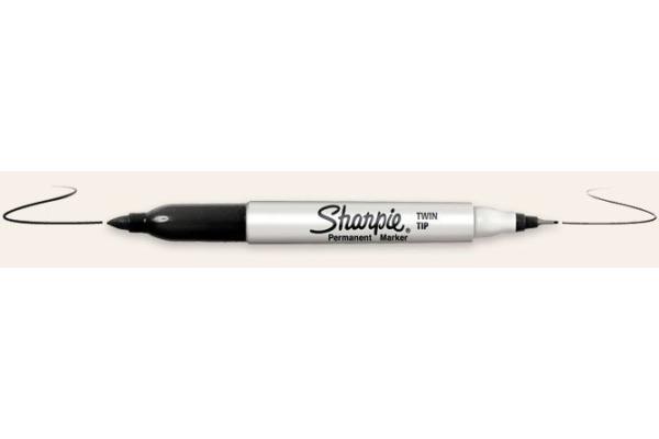SHARPIE Fineliner Twin Tip 0,3 1mm S0811100 schwarz