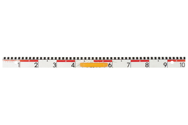 SIECO Wandtafellineal 100cm 332100 weiss, mit Griff