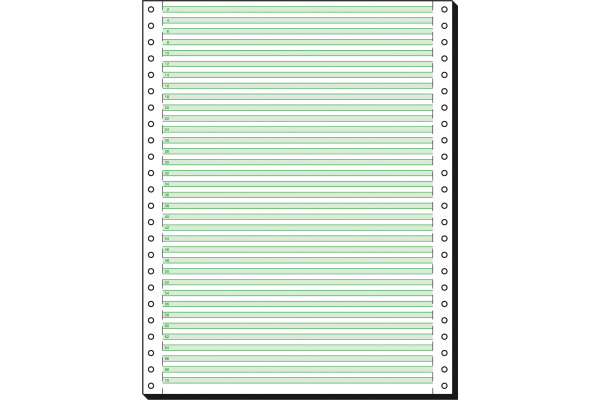 SIGEL Computerpapier grün 12x240 12247 4,2mm LP, 60g 2000 Blatt
