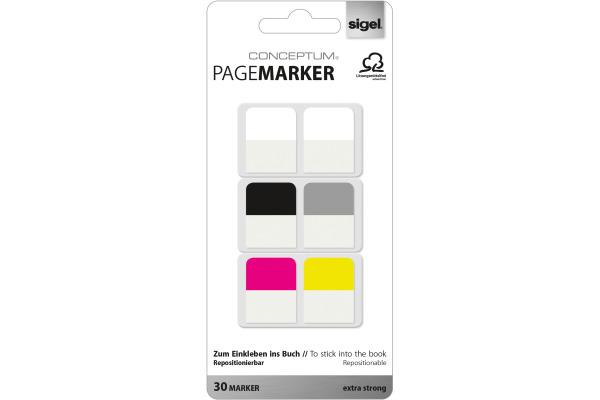SIGEL Pagemarker 20x26mm CO100 5 Farben, Kunststoff 30 Blatt