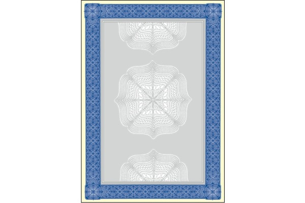 SIGEL Designpapier Urkunde A4 DP490 blau, 185g 20 Blatt