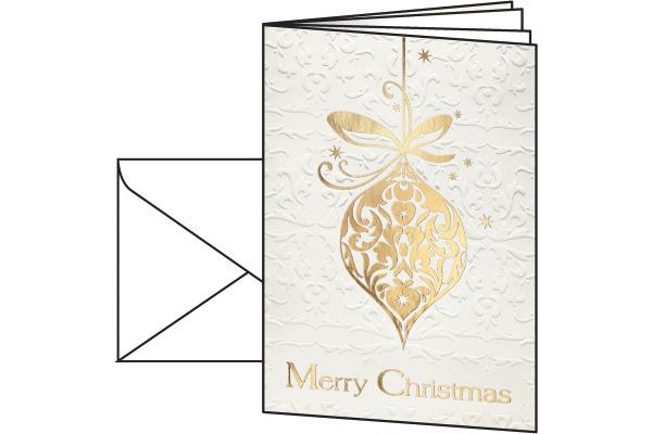 SIGEL Weihnachts-Karten A6 DS049/W mit Umschlägen 10+10 Stück