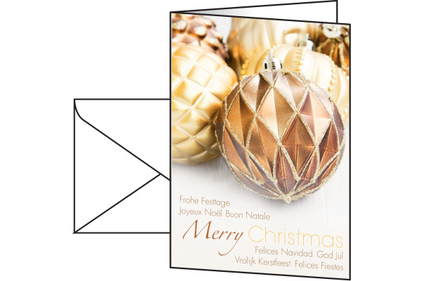 SIGEL Karten/Couverts A6/5 DS052/W Fancy Christmas, 220g 25 Stück