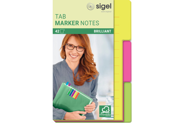 SIGEL TabMarker Notes HN206 3 Farben 98x148mm