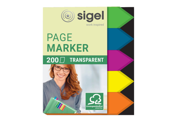 SIGEL Marker Arrow 12x45mm HN613 5 Farben ass. 200 Blatt
