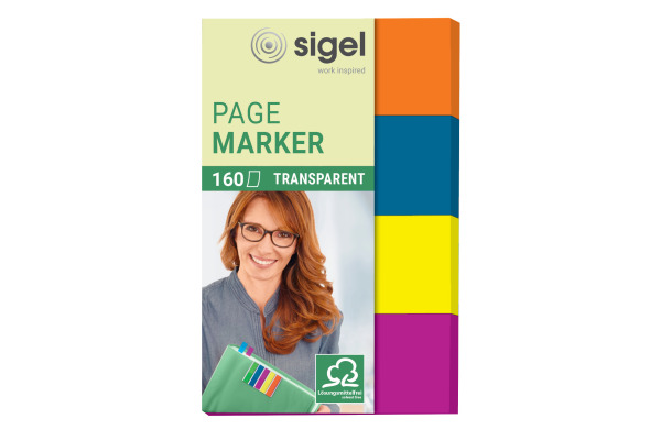 SIGEL Notes 20x50mm HN614 4 Farben ass. 160 Blatt