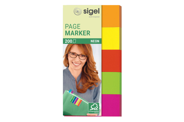 SIGEL Notes 20x50mm HN650 5 Farben ass. 200 Blatt