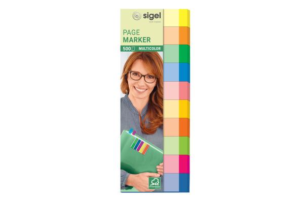 SIGEL Haftnotizen 15x50mm HN682 multicolor 10 x 50 Streifen