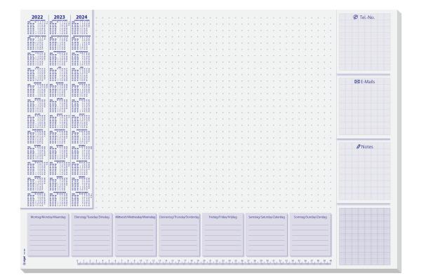 SIGEL Schreibunt. Lilac 3J.59.5x41cm HO355 weiss, D/E/NL,...
