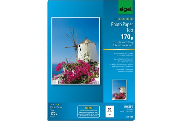 SIGEL InkJet Photo Paper Top A4 IP601 170g glossy 50 Blatt