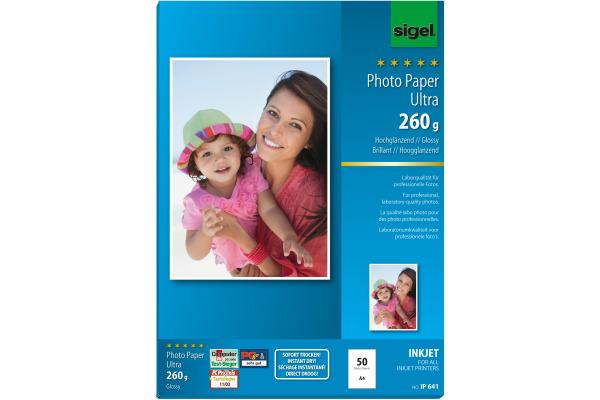SIGEL InkJet Photo Paper Ultra A4 IP641 260g glossy 50 Blatt