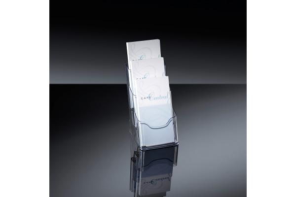 SIGEL Tisch-Prospekthalter 3xDIN LH 133 130x290x150mm acryl