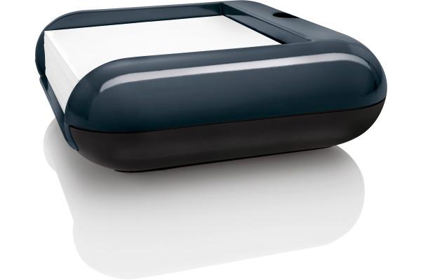 SIGEL Haftnotizbox 110x40x110mm SA162 eyestyle d.grau/schwarz