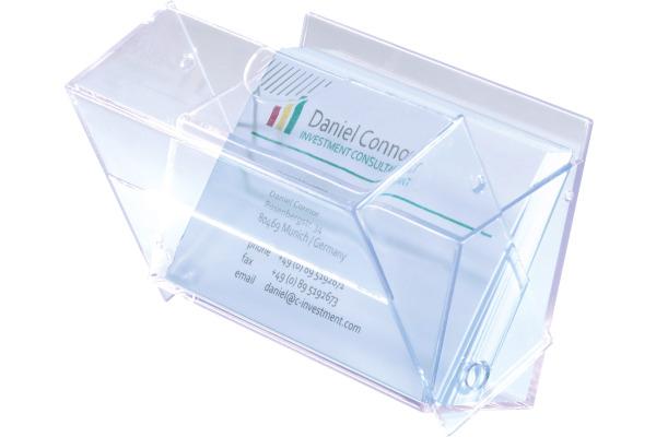 Sigel Visitenkarten Box Va110 Transparent Für 100 Karten 86x55mm