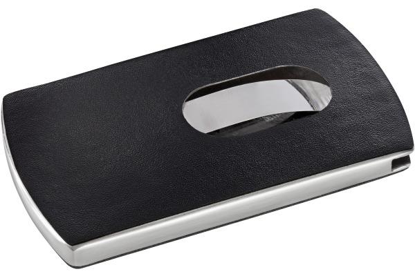 SIGEL Visitenkarten-Etui Snap VZ121 schwarz,silber,12 ST.