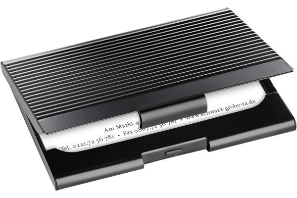 SIGEL Visitenkarten-Etui matt VZ134 Metall, 20 ST. Black