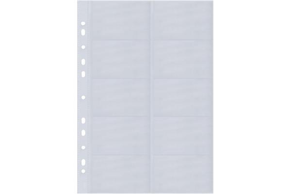 Sigel Visitenkarten Ringbuchhüllen 90x58mm Vz351 2 Reihig A Z 10 Stück