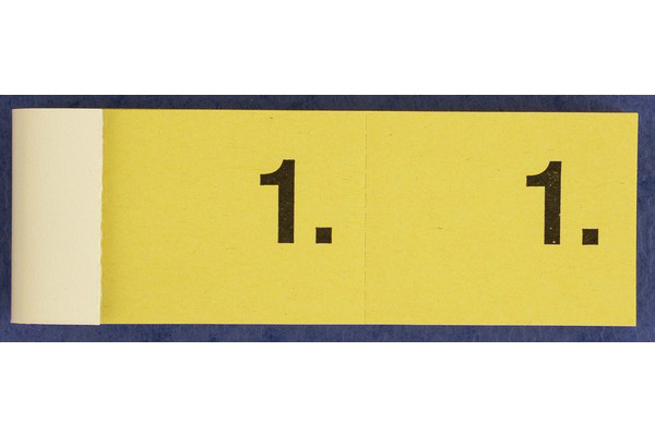 SIMPLEX Garderobenblock Nr. 1-100 13071 gelb 100 Blatt
