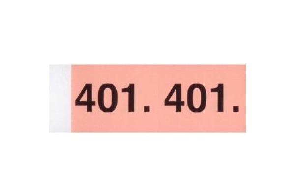 SIMPLEX Garderobenblock 1-100 13073 orange 100 Blatt