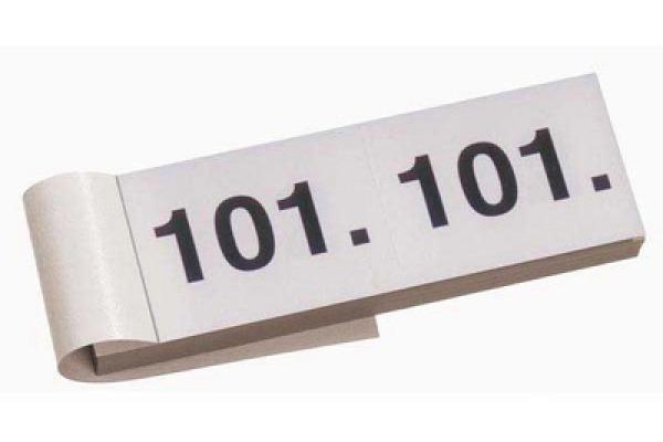 SIMPLEX Garderobenblock Nr. 101-200 13077 weiss 100 Blatt