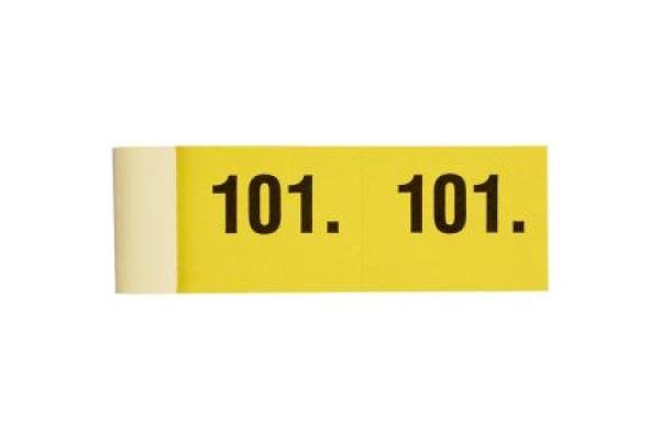 SIMPLEX Garderobenblock 201-300 13085 gelb 100 Blatt
