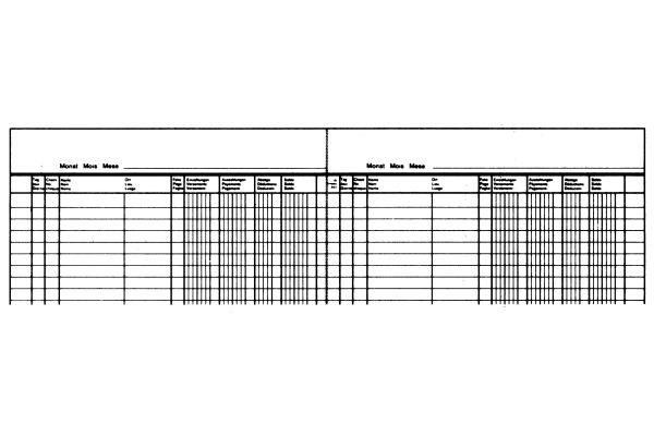 SIMPLEX Postcheckbuch D/F/I A4 18002 ass. 24 Blatt