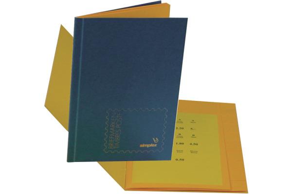 SIMPLEX Briefmarkenbuch 17,5×24cm 18474 blau