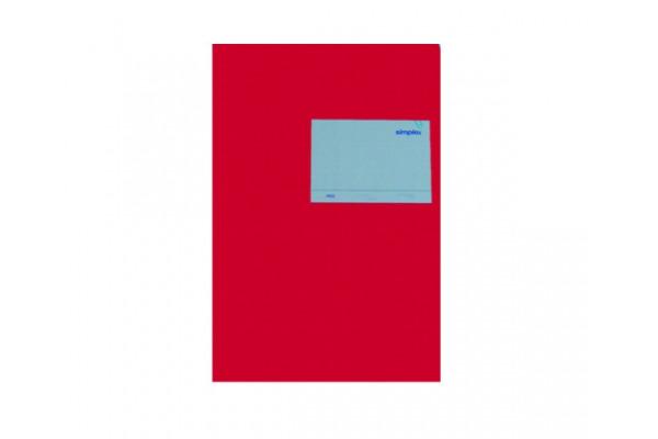 SIMPLEX Statistikheft A5 19003 red 40 Blatt