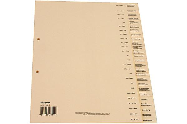 SIMPLEX Register DE A4 28141 Bauabrechnung