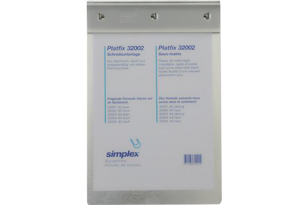 SIMPLEX Schreibplatte Platfix A3 32005 chrom
