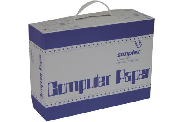 SIMPLEX Computerpapier A4 38003 weiss orange 1000...