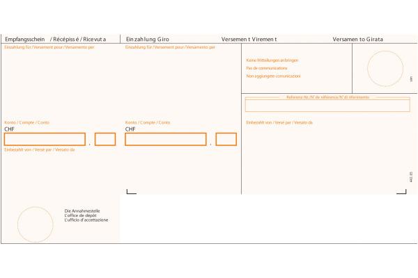SIMPLEX Einzahlungsschein ESR A4 38213 orange, 90g 100 Stück