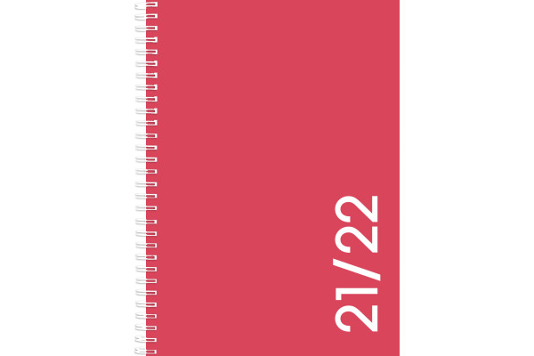 SIMPLEX Colors weekly 21/22 A5 40130S722 coral, 17M