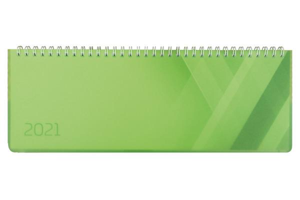 SIMPLEX Querkalender Colors 2021 40656.21 290x105mm,grün,1W/2S