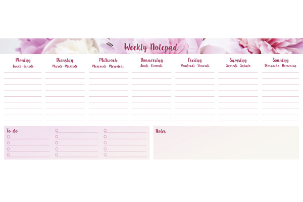 SIMPLEX Weekly Notepad 40751.2 29x12mm rosa