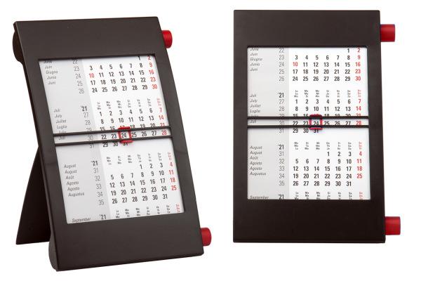 SIMPLEX 3-Monats-Tischkalender 2021 50012.21 schwarz/rot,3M/1S