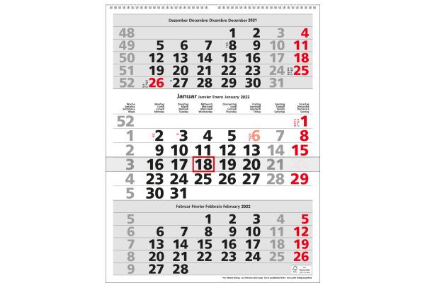 SIMPLEX 3-Monats-Wandkalender 2022 970009.22...