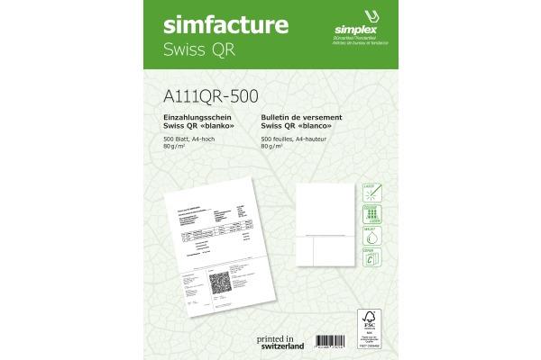 SIMPLEX Simfacture Swiss QR FSC A4 A111QR-500 universal,...