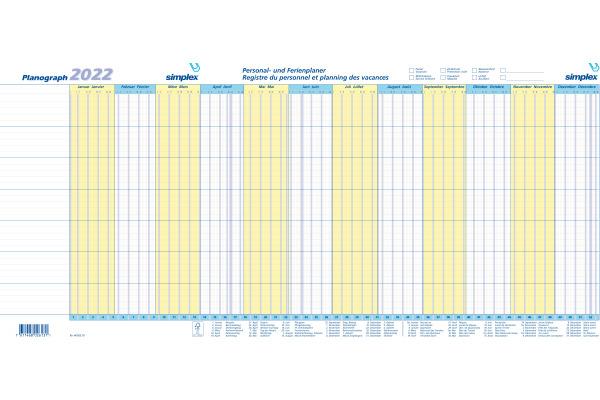 SIMPLEX Planograph 2022 S40365.22 640x296mm,Setà3