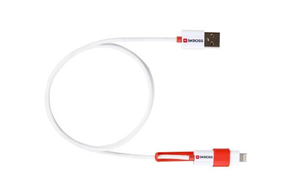 SKROSS Charge´n Sync - 2in1 2.700200E Micro-USB & Lightning white