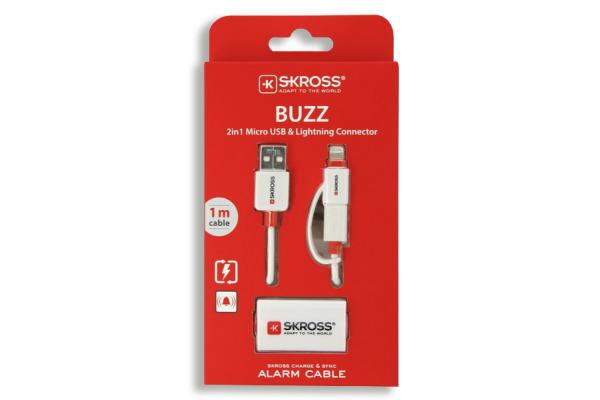 SKROSS Buzz 2in1 white 2.700214 micro USB & lightning conn.