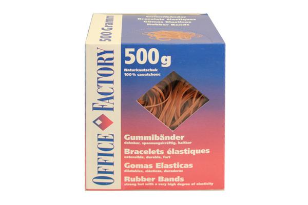 SMART OF. Gummibänder 80mmx3mm 605532 Naturkautschuk 500g