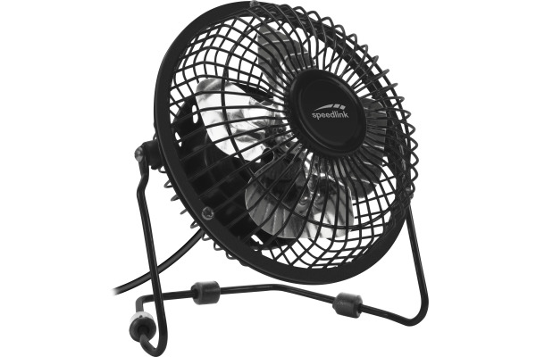SPEEDLINK TORNADO USB Desk Fan SL600502B Metal, black