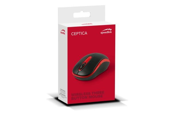 SPEEDLINK Ceptica Wireless Mouse SL630013B USB, black red