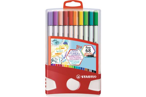 STABILO Fasermaler Pen 68 Brush 568 20-02 assortiert 20 Stück