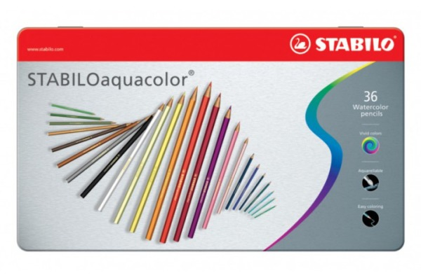 STABILO Crayon de coul.aquacolor 2,8mm 16365 36...