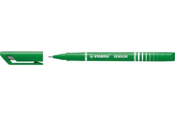 STABILO Feinschreiber sensor 0,3mm(F) 189 36 grün