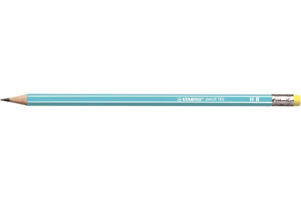 STABILO Bleistift 160 mit Gummi HB 2160/02HB hellblau