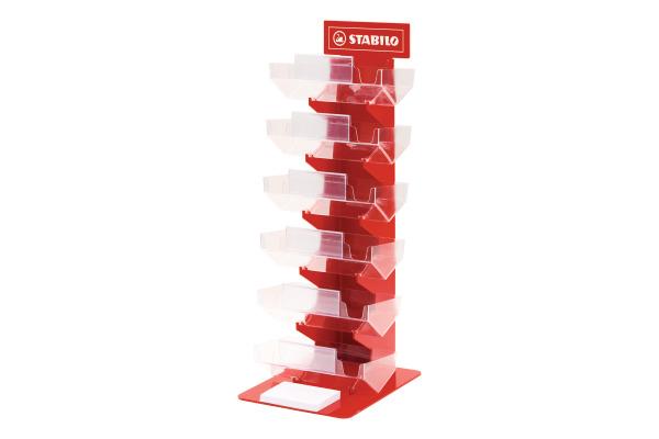STABILO Display für Bleistifte 2721/0 rot, leer für 360 Stück